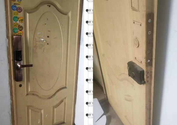 安装指纹锁遇到老式木门,师傅这样解决