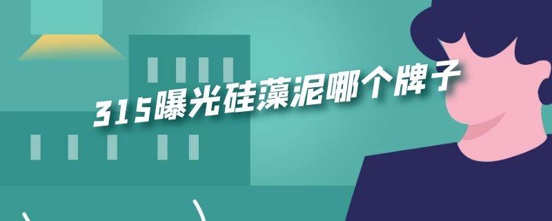 """15曝光硅藻泥哪个牌子"""""""